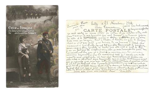 [Lettre de Joseph Goubely à son épouse Laurence, 25 novembre 1914, vue combinée]