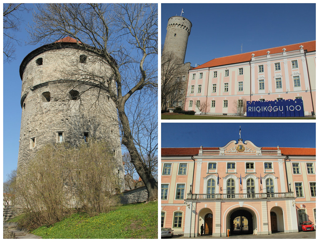 Pikk Hermann and Toompea Castle / the Estonian parliament building