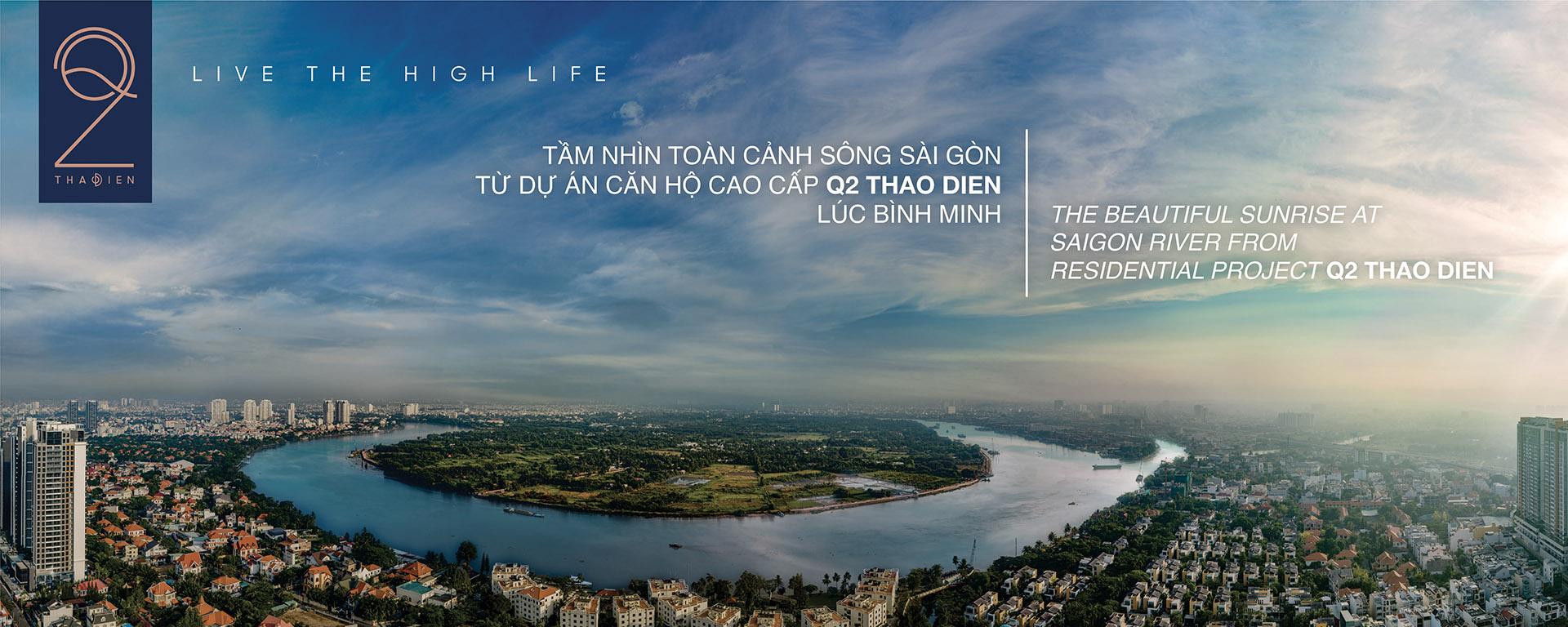 tầm nhìn view sông Saigon