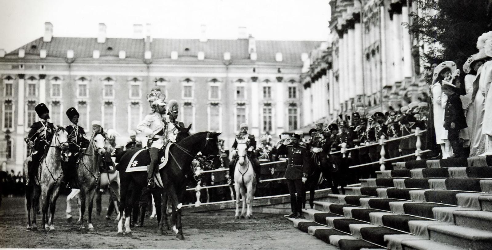 1911. Николай II и принц Фридрих Вильгельм. Царское Село, 4 мая