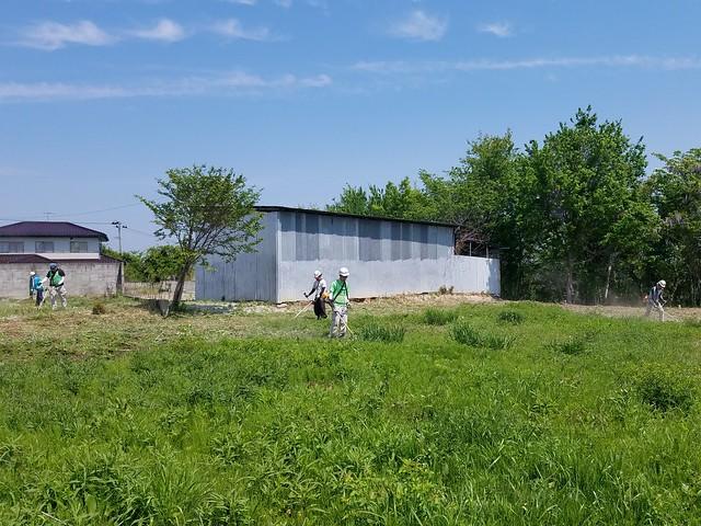 福島県浪江町で草刈りボランティア(援人 2019年 0510便)