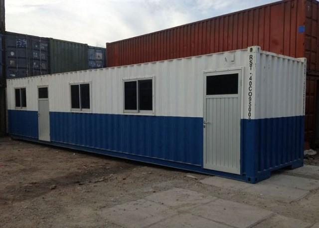 Giá thuê container văn phòng 40 feet khá rẻ so với việc xây dựng văn phòng