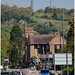 Reigate Hill Railway Crossing RH2, old quarry and hill beyond by pg tips2