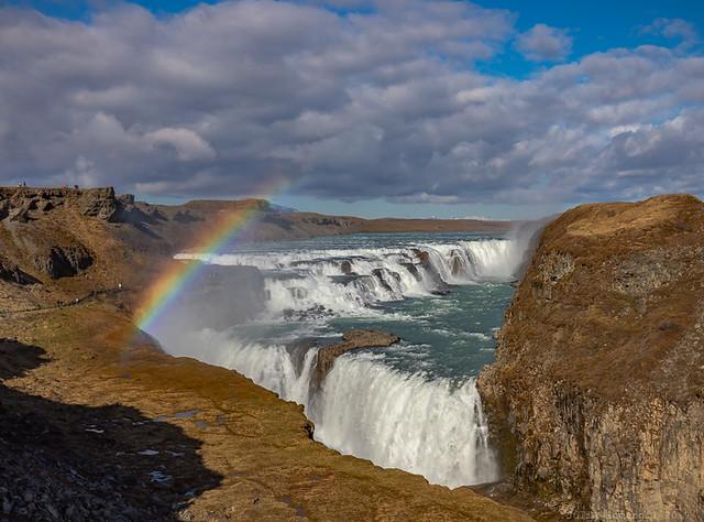 Rainbow over Gullfoss