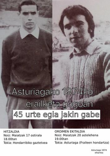 Asturiagagako 1979ko erailketa gogoan