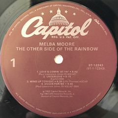 MELBA MOORE:THE OTHER SIDE OF THE RAINBOW(LABEL SIDE-A)