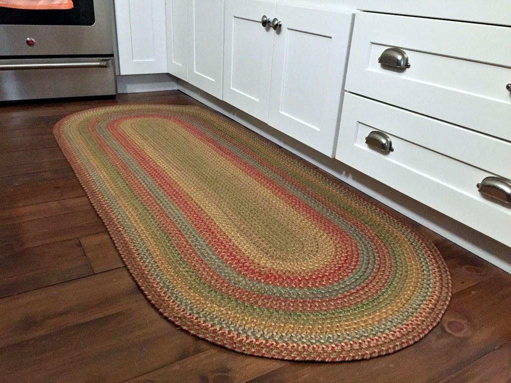 braided kitchen rug
