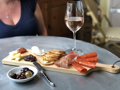 Cheese and charcuterie with rosé | by sarahstierch