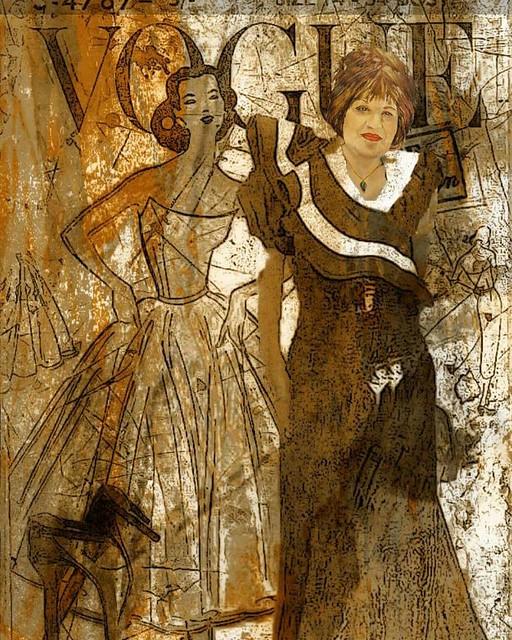 ציור דיוקן עצמי פורטרט בגד בתיה גזית עיצוב תמונה ציירת פרידה פירו מודרנית ישראלית אמנית מודרנית ישראלית