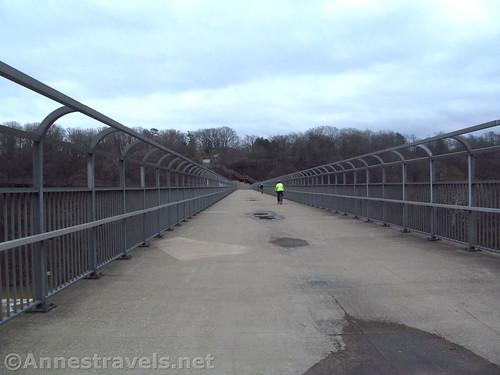 The pedestrian bridge between Maplewood Park and Seneca Park in Rochester, New York