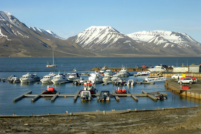 The harbour at Longyearbyen