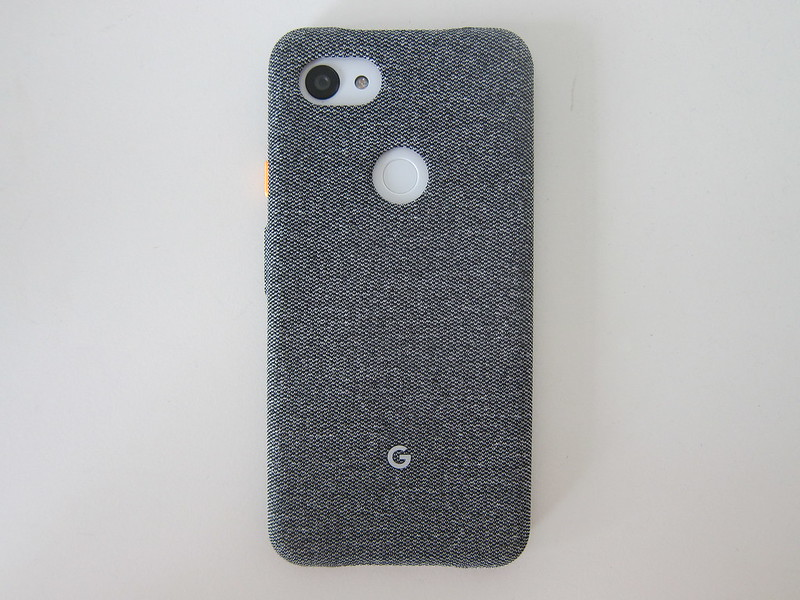 Google Pixel 3a XL Fabric Case - With Phone - Back