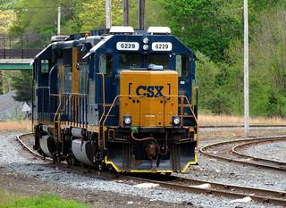 CSX equipment at Middleboro, MA  5/16/2019