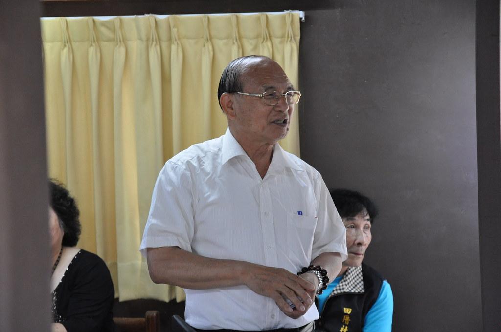 竹森社區石虎資料館創辦人、竹森社區發展協會前理事長鍾兆良。
