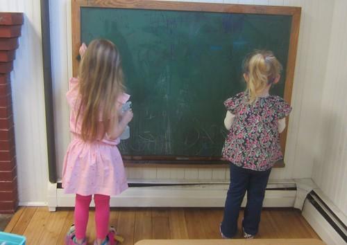 scrubbing down the chalk board