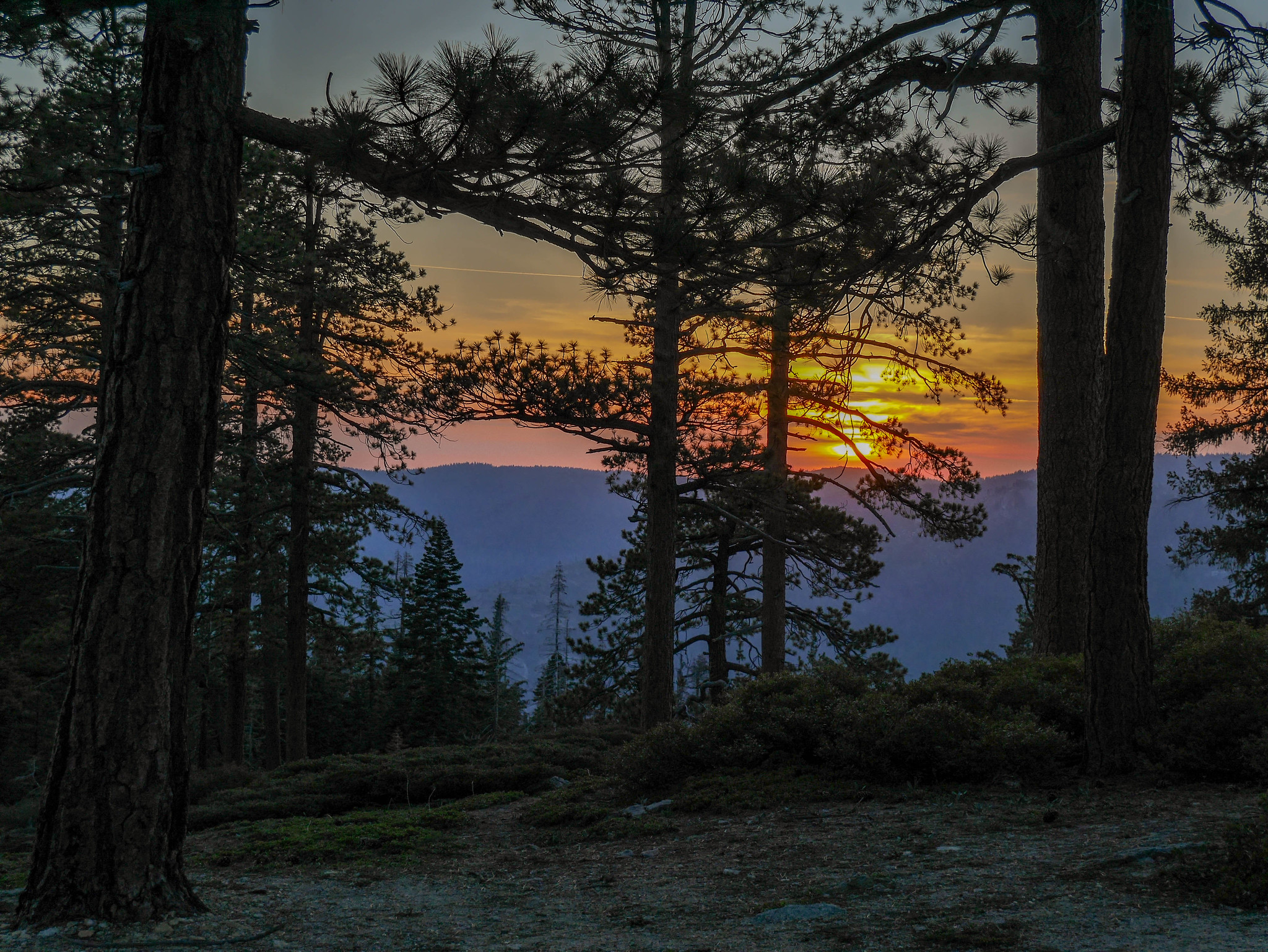Sunset from camp at Crocker Point