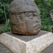 WereJaguar warrior.Olmec head.Villahermosa La Venta Park