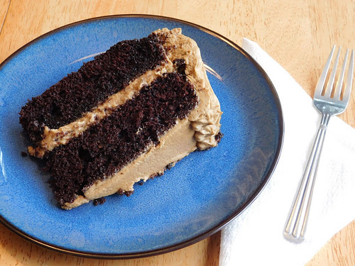 chocolate coffee peanut butter cake