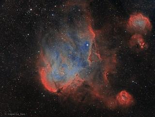 Running Chicken Nebula Version 2   by capella_ben