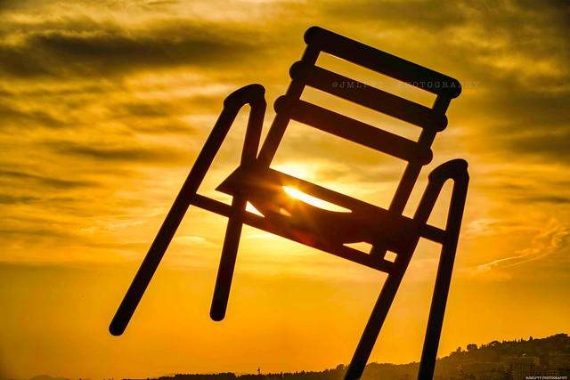 La chaise bleue de SAB à Nice -  Côte d'Azur France