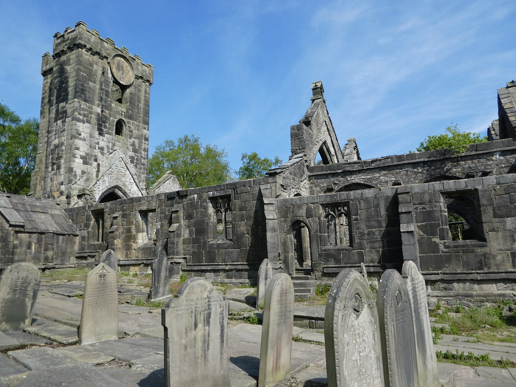 The Thomas a Becket Church Heptonstall now in ruins
