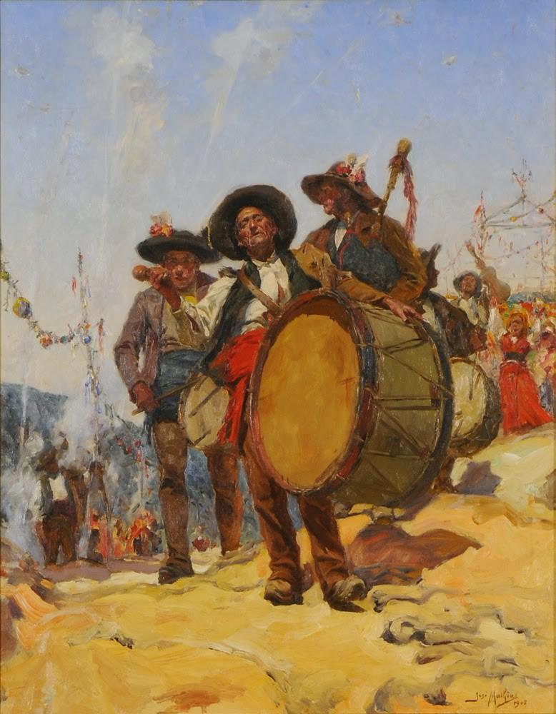 Malhoa, «Volta da feira ou a chegada do Zé Pereira à romaria» (óleo sobre tela, 1905)