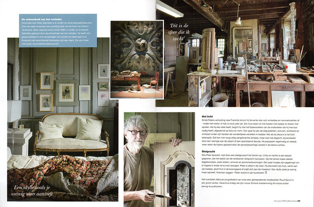 Peter Gabrielse article in Herenhuis 71, May/June 2019