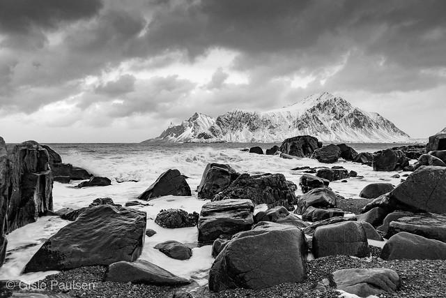Flakstad Beach boulders