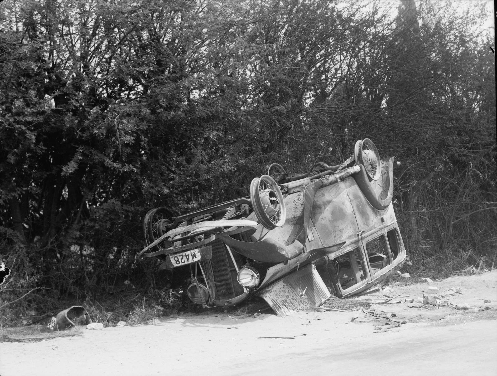 01. Яффо. Еврейская машина сожжена, водитель убит, 19 апреля