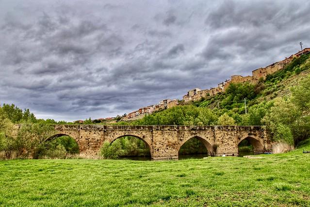 Roman Bridge. San Vicente de la Sonsierra, La Rioja, Spain