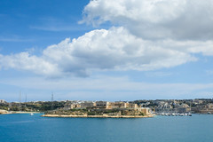 View over the Grand Harbour to Bighi