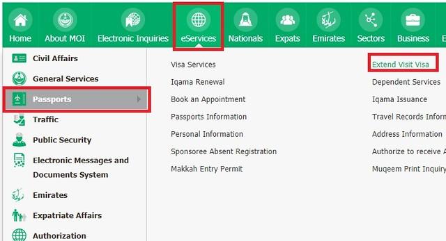 252 Extension (Renewal) of Family Visit Visa Online 01