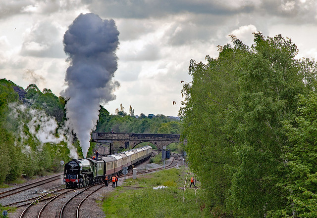 Letting off steam at Healey Mills.