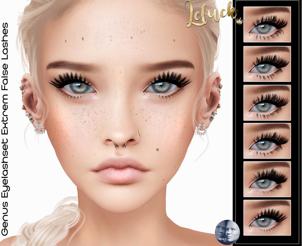 [LeLuck]Genus Eyelashset Extrem False Lashes