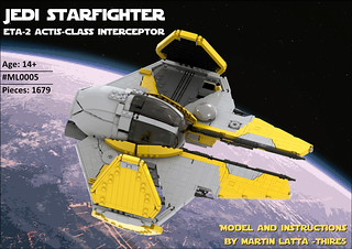 UCS Jedi starfighter - Eta-2 Actis-class interceptor INSTRUCTIONS | by thire5
