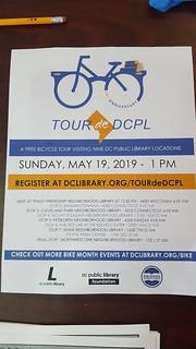 Tour de DCPL 2019 flyer