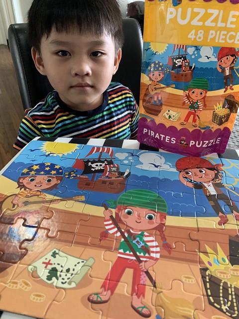Zafeer with pirate jigsaw