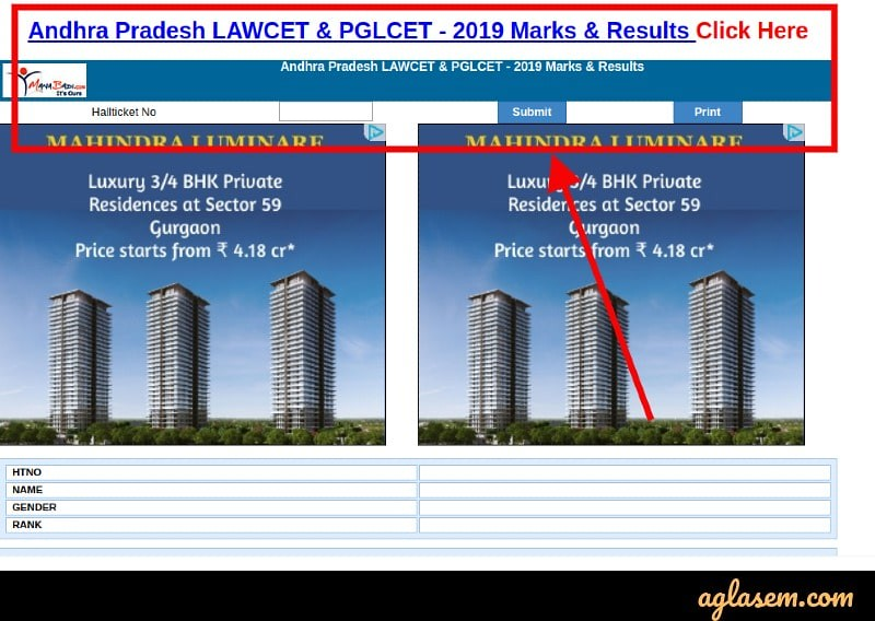 AP LAWCET 2019 Result (Released) - Check Here Merit List, Cut Off for LAWCET and PGLCET
