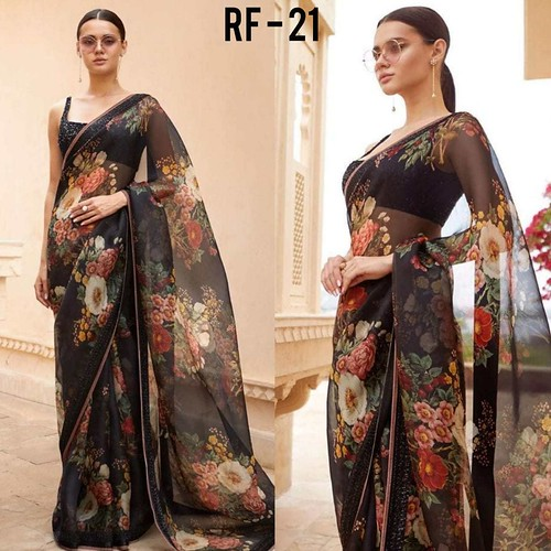 RF FASHION PRESENTS RF VOLUME 21 REGULAR WEAR SAREE WITH PREMIUM ORGANZA AVAILABLE AT BEST WHOLESALE PRICE FROM SURAT MANUFACTURER