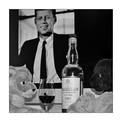 enjoying Macallan with John F. Kennedy