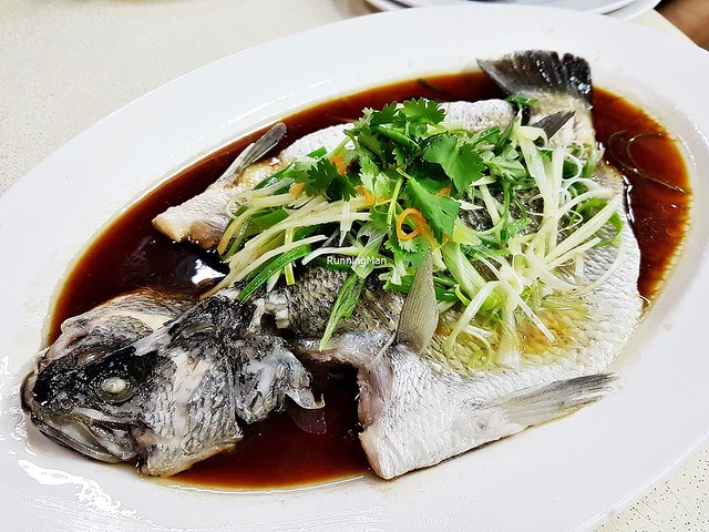 Steamed Sea Bass Fish In Hong Kong Superior Soy Sauce