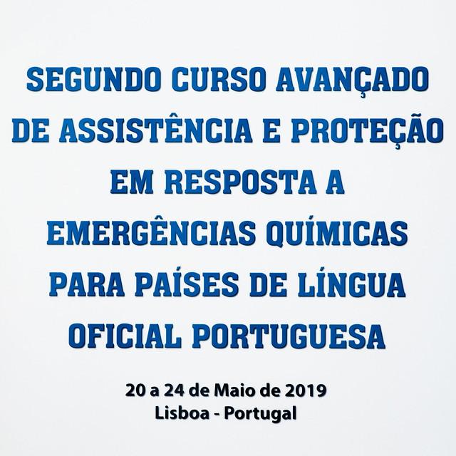 Segundo Curso Avançado de Assistência e Proteção em Resposta a Emergências Químicas para Países de Língua Oficial Portuguesa