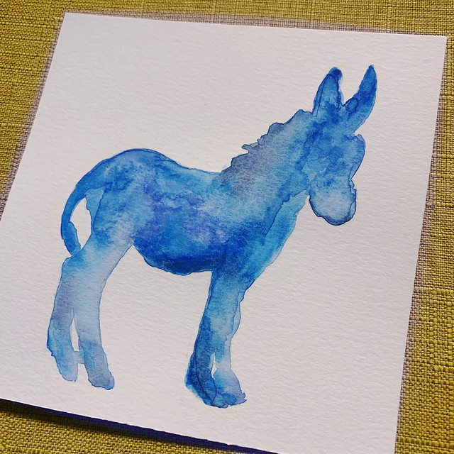 Donkey Watercolor