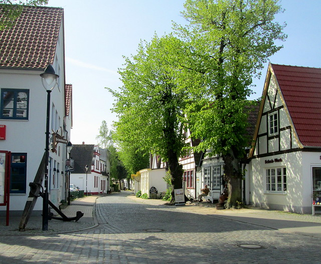Warnemunde street, Germany