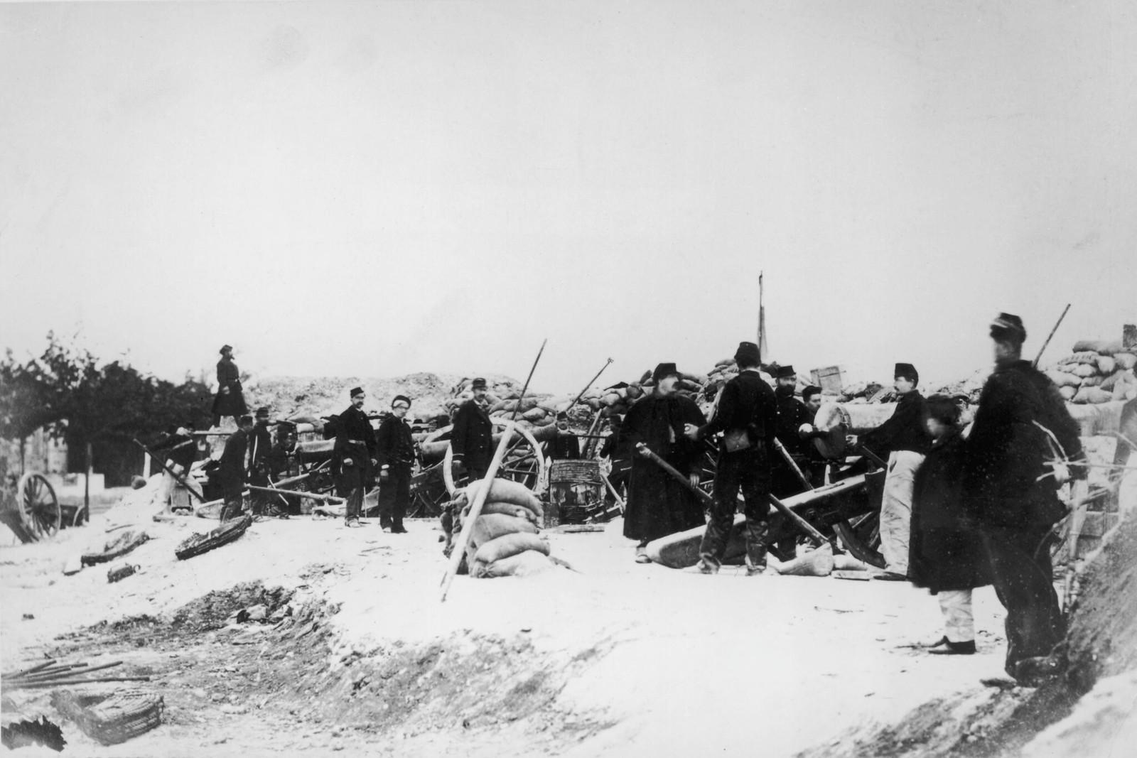 1871. Артиллерийская батарея.
