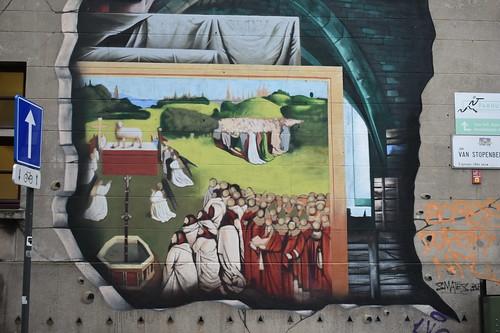 """Mural de """"El Cordero Místico"""""""