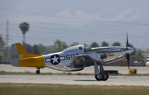 P-51D Spam can Take Off Roll