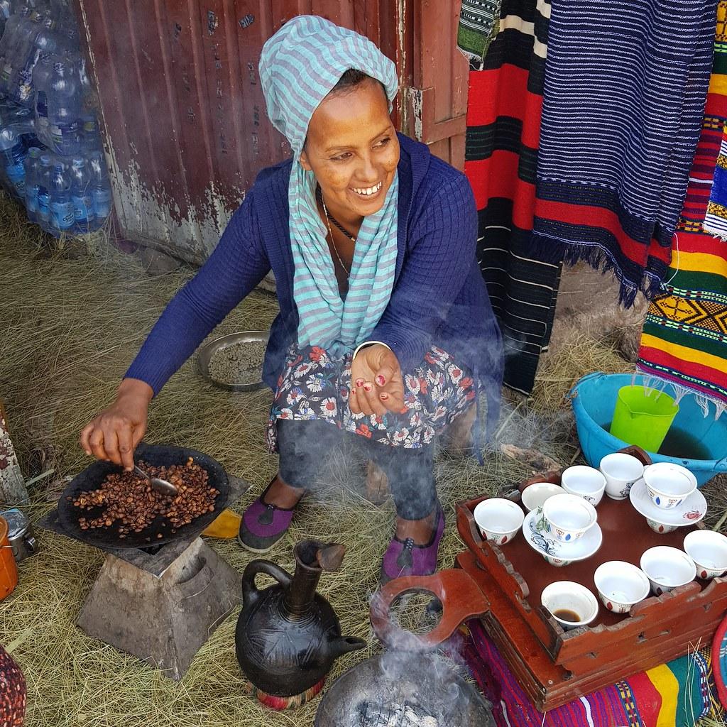 Ceremonia parzenia kawy, Etiopia