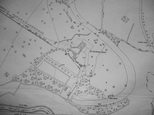 Pishiobury, on the 1921 O.S.map (9226)