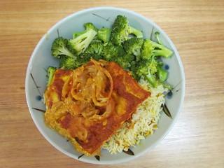 Golden Tandoori Tofu; Lightly Seasoned Indian Basmati Pilaf